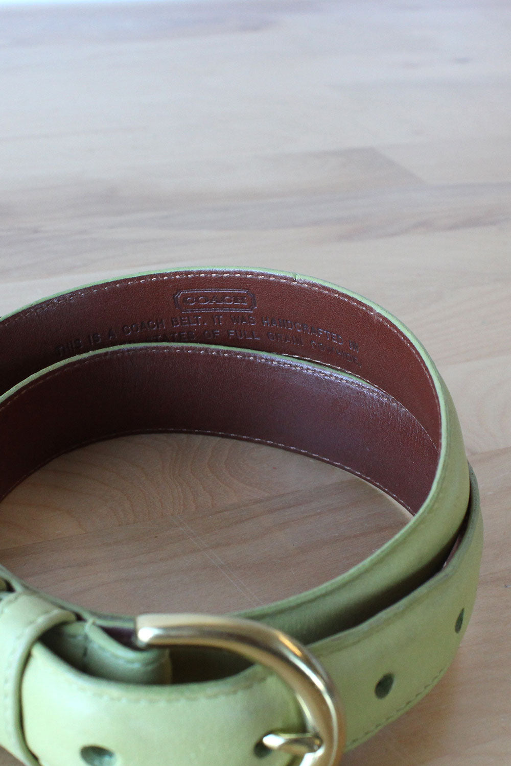 Lime Green Coach Belt