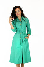 vintage trench dress