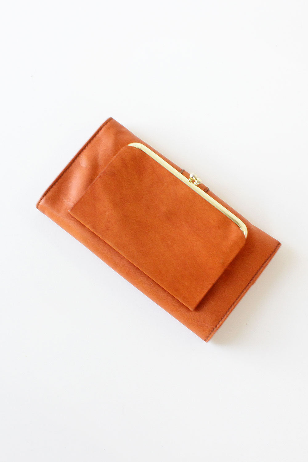 Burnt Orange Buckle Wallet