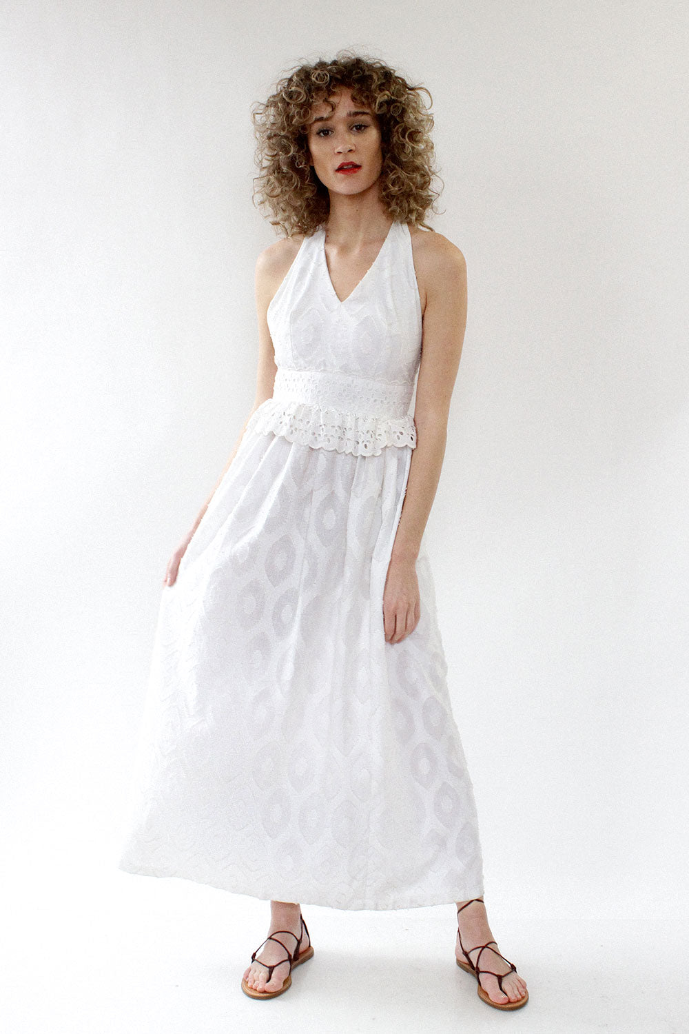 Eyelet Cloud Halter Dress XS/S