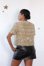 Starlight Gold Beaded Top M/L