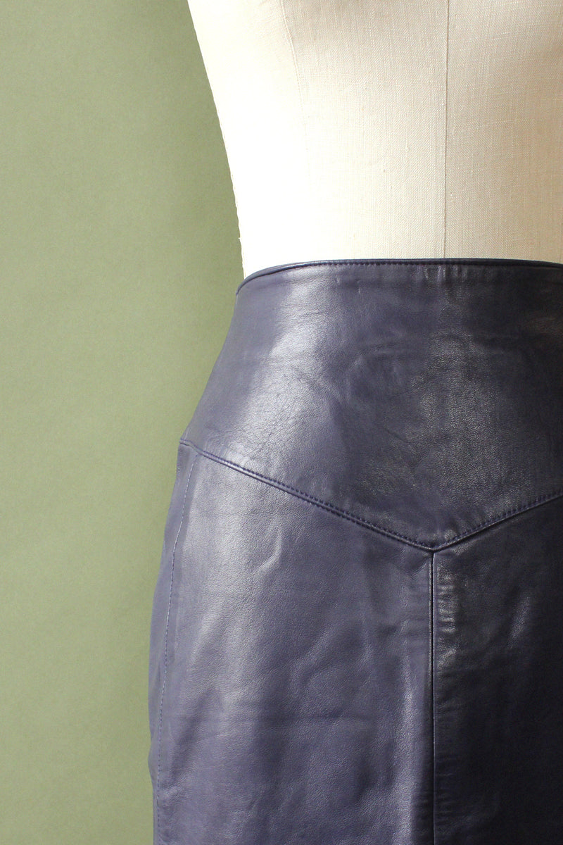 Lanna Leather Pencil Skirt M