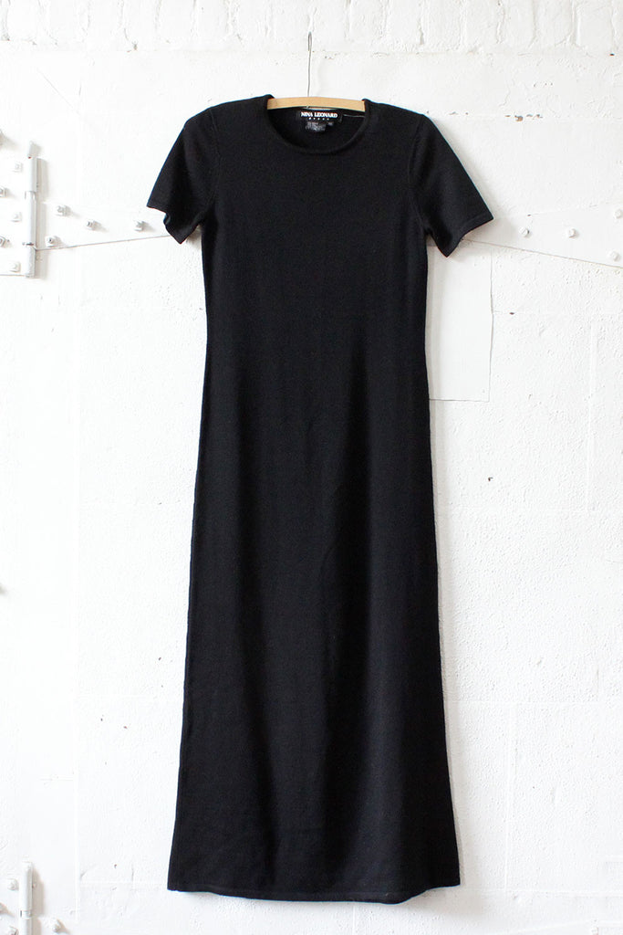 Jet Black Column Sweaterdress XS