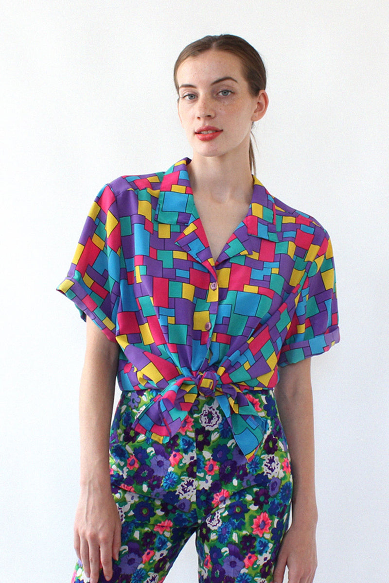 Primary Cube Boxy Blouse L/XL