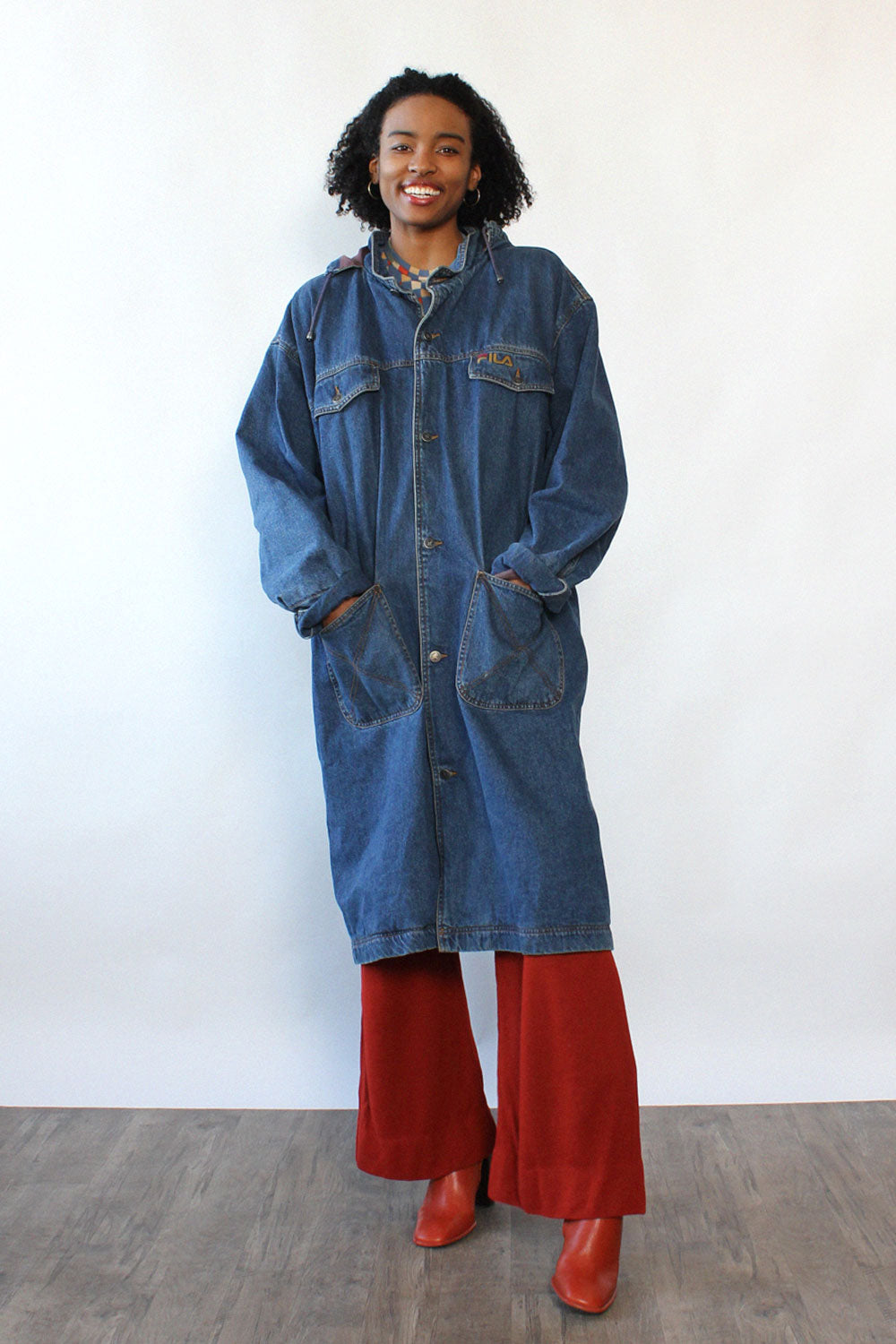 Fila Oversized Denim Jacket S-XL