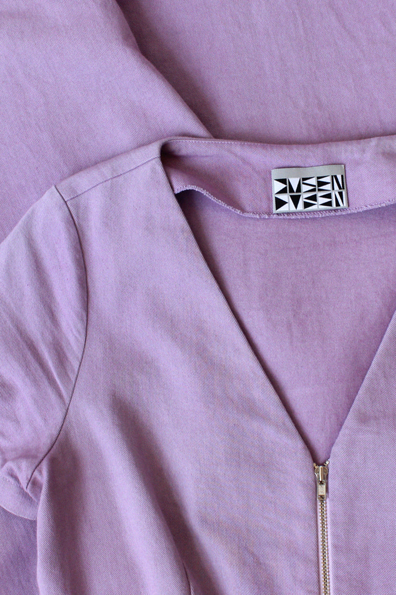 Lilac Zipper Jumpsuit M