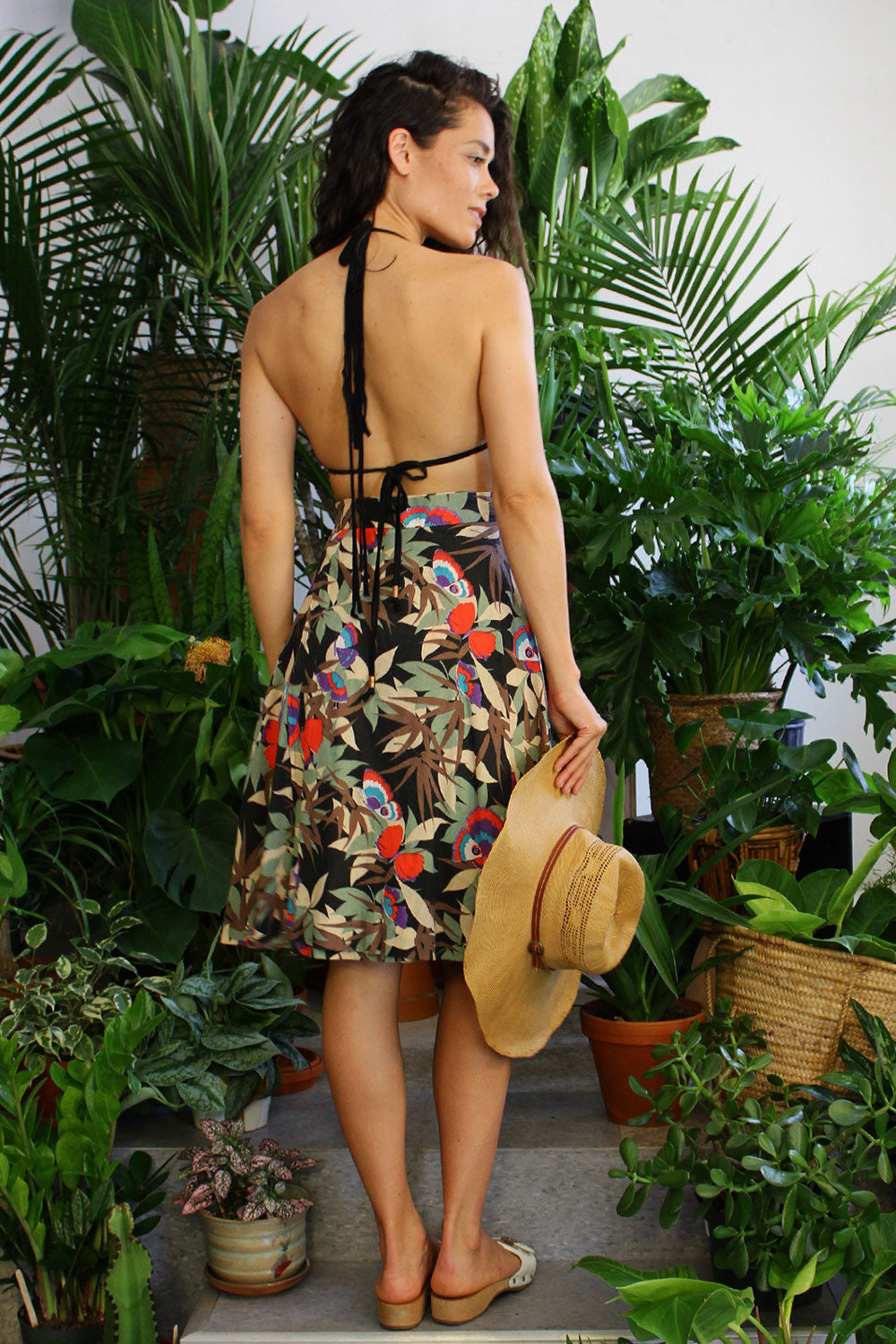 Butterfly In The Jungle Wrap Skirt M