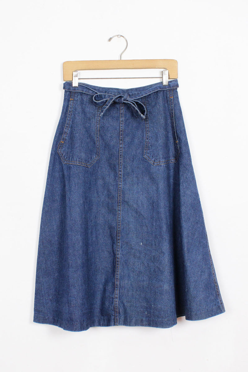 Goose Denim Wrap Skirt M