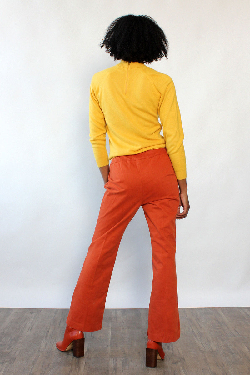 Apricot Buttonfly Pants M