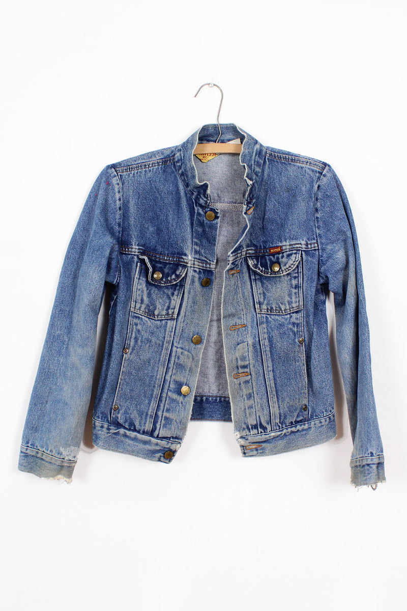 Rustler Distressed Denim Jacket S/M