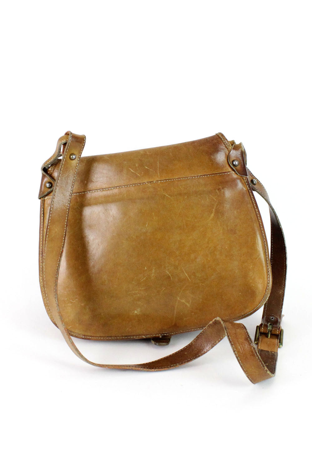 J.G. Hook Honey Leather Saddle Bag