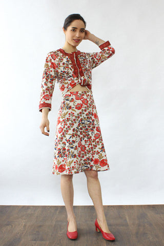 Leonard Wool Paisley Dress M/L