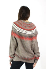 Slouchy Sleeve Nordic Sweater OS
