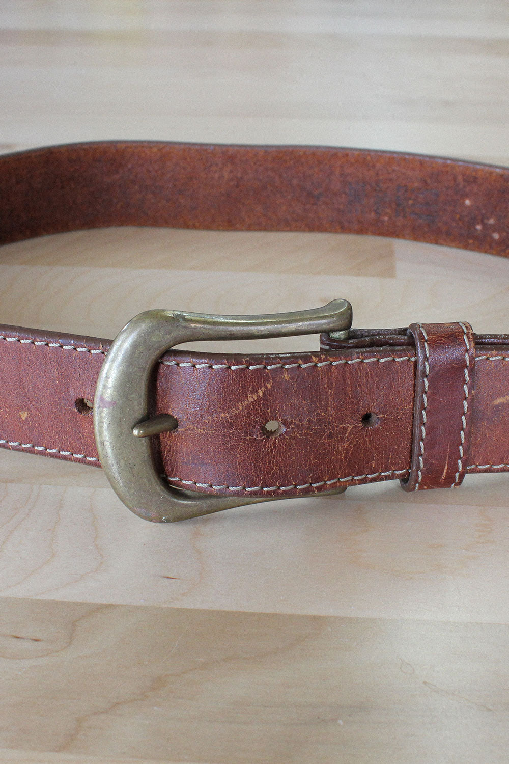 Mahogany Thick Leather Belt