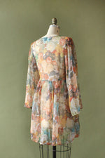 Danielle Sheer Flower Dress S/M