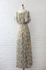 Pleated Prairie Maxi Dress XS/S
