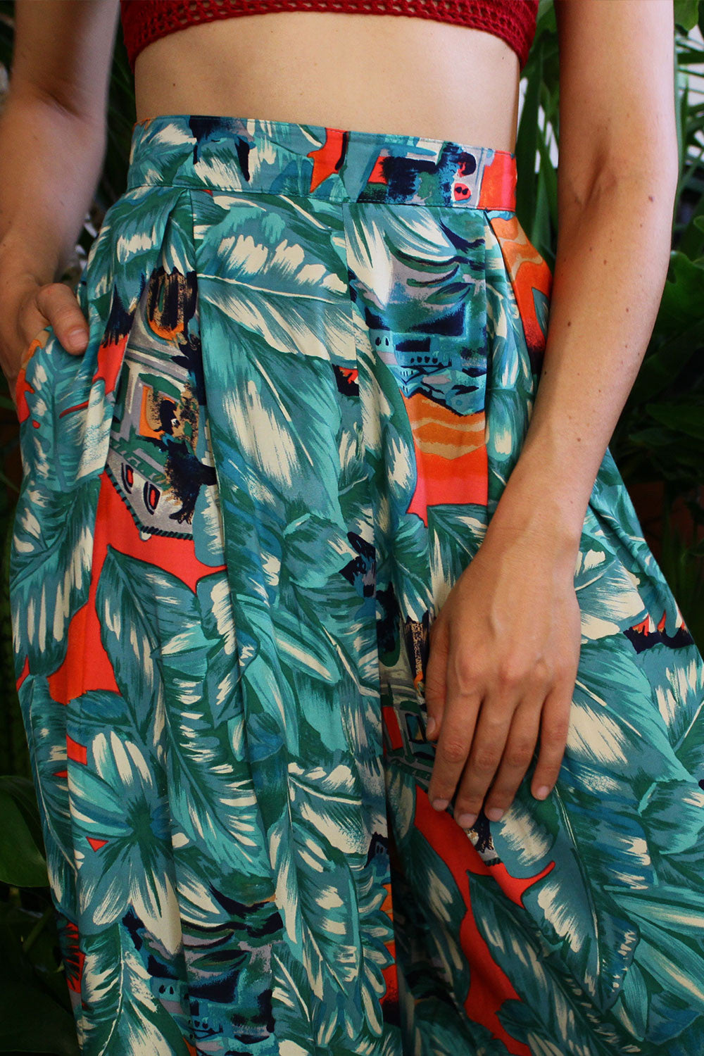 Blanche Tropical Gaucho Pants S