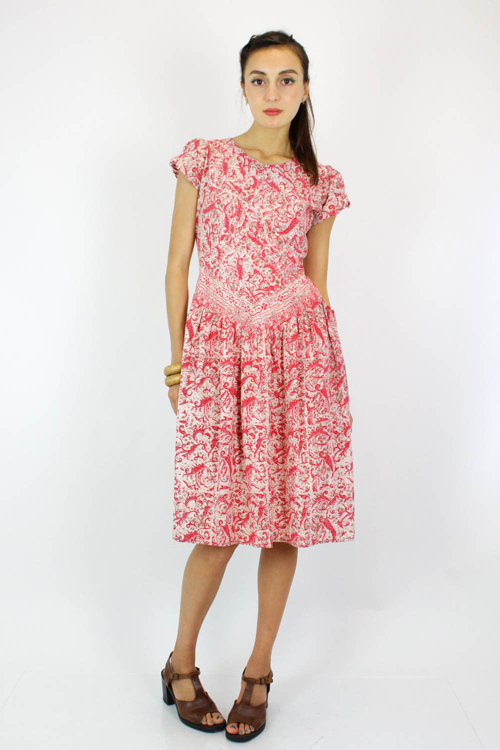 Indonesian Batik Cotton Dress S/M