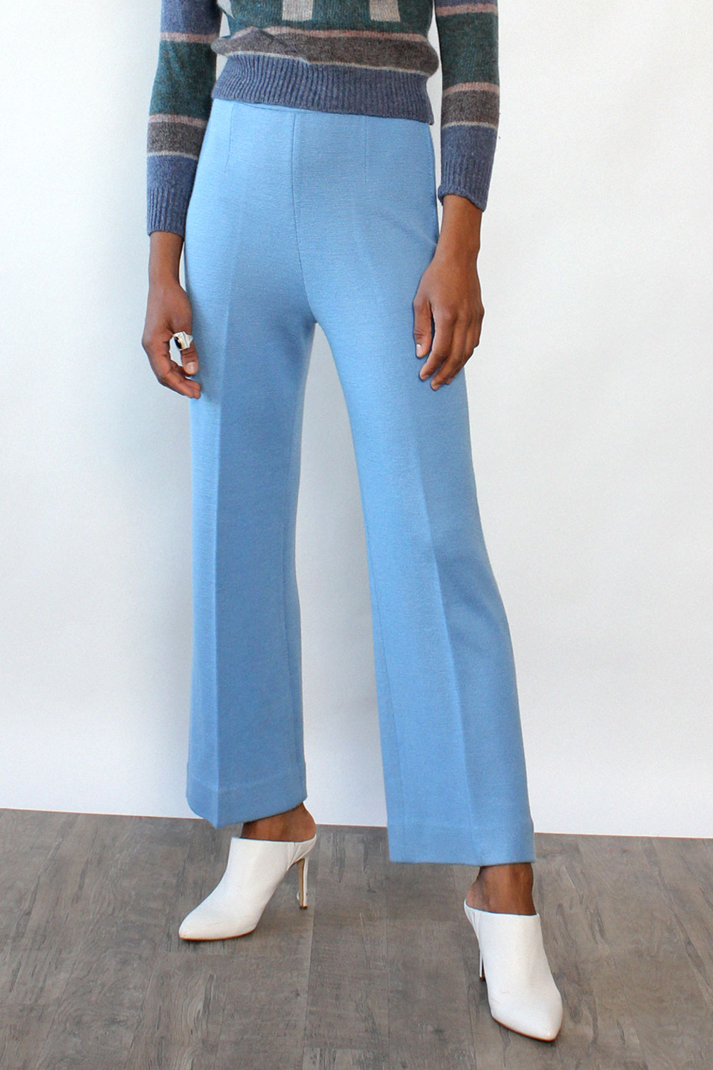 Sibleys Baby Blue Knit Flares M