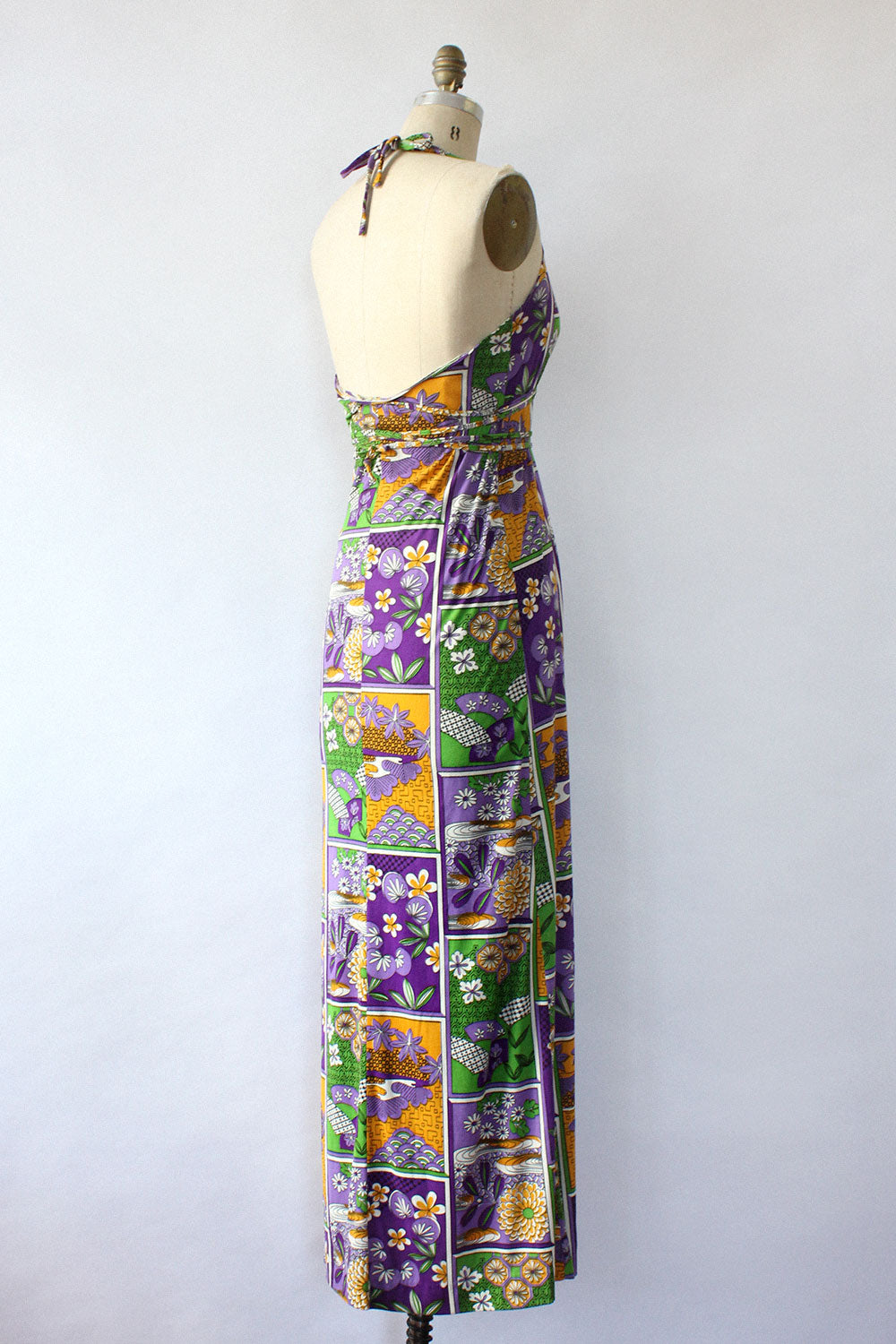 Mosaic Criss-Cross Maxi Dress S/M