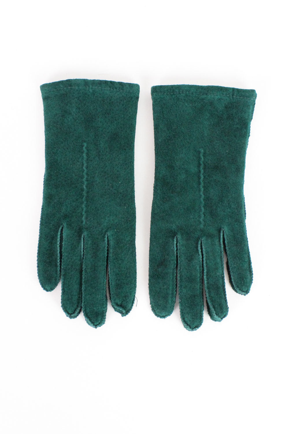 SALE...Forest Green Suede Gloves S/M