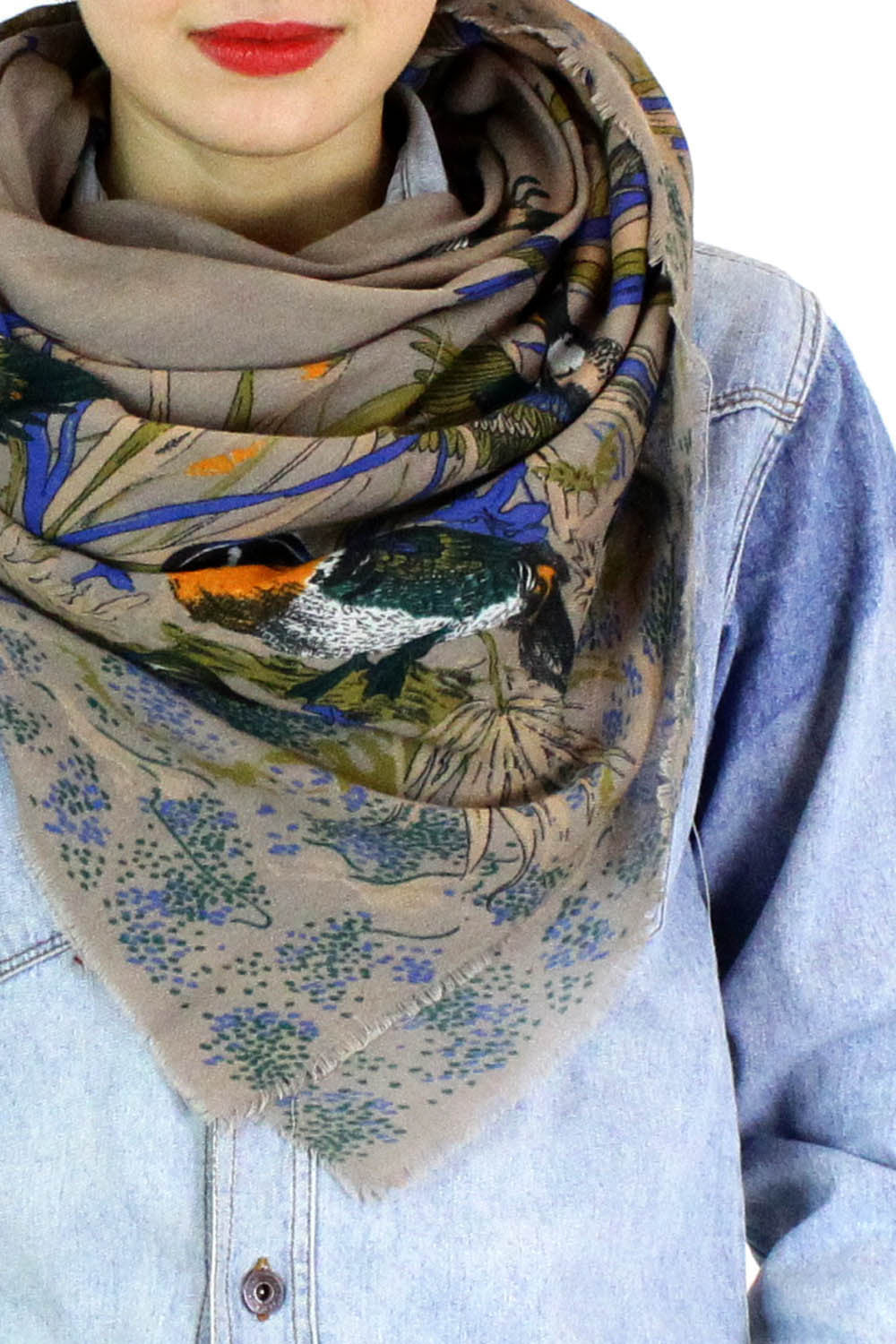 mallard ducks on the pond scarf