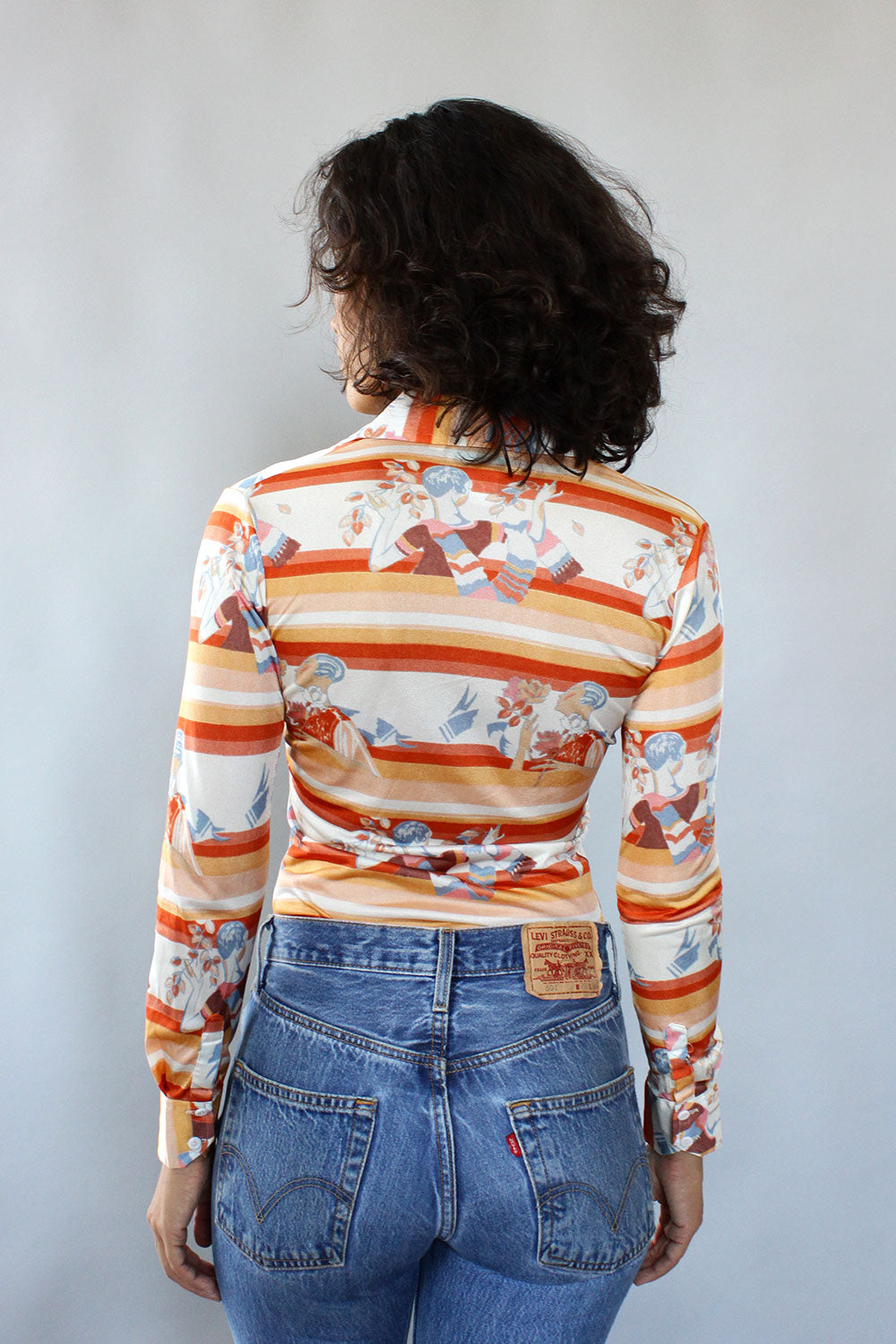 Bianca 70s Novelty Print Buttondown XS