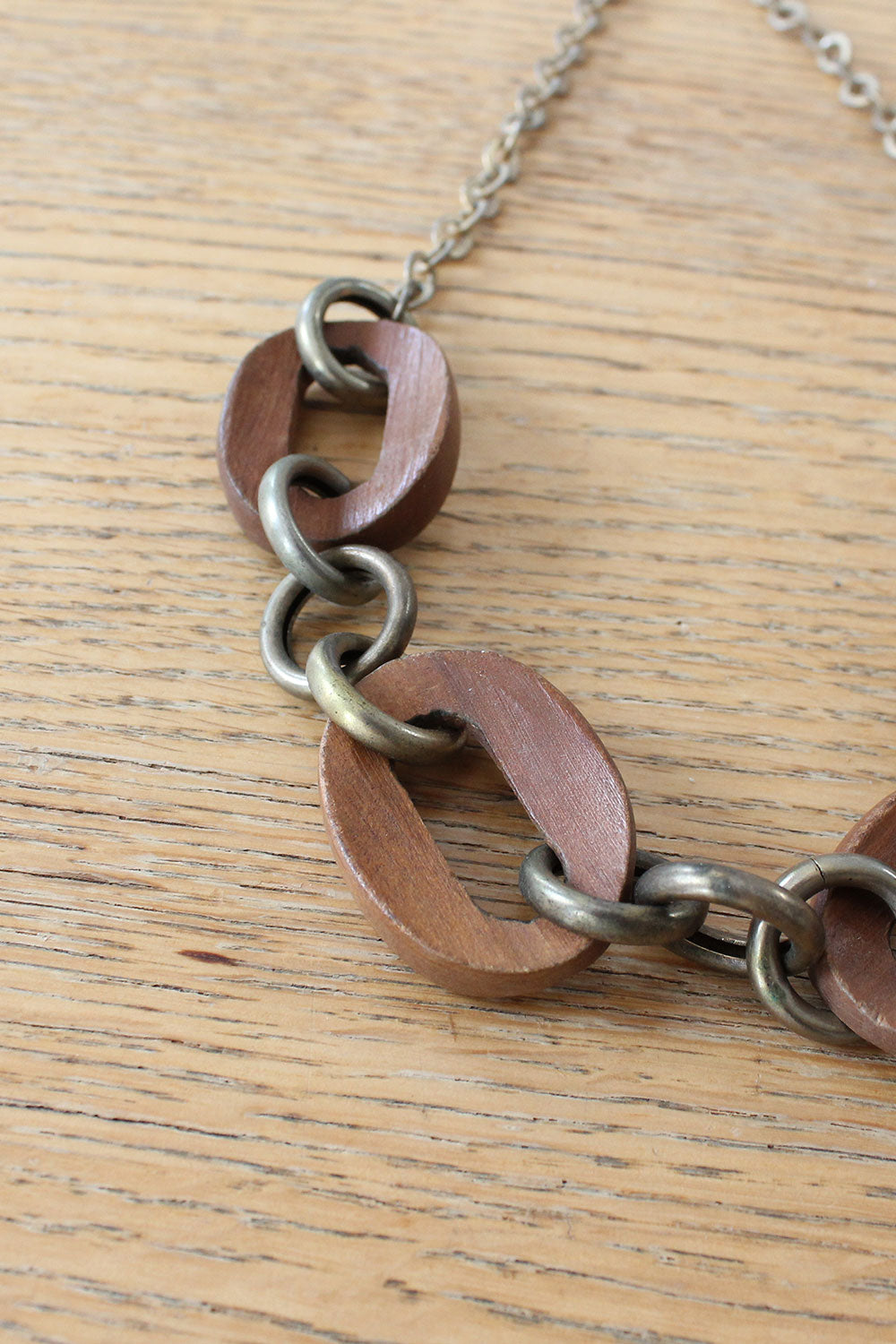 Wood Chain Necklace