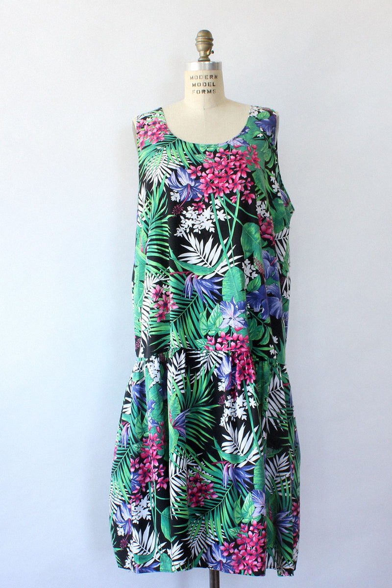 Lost in the Tropics Smock Dress M/L
