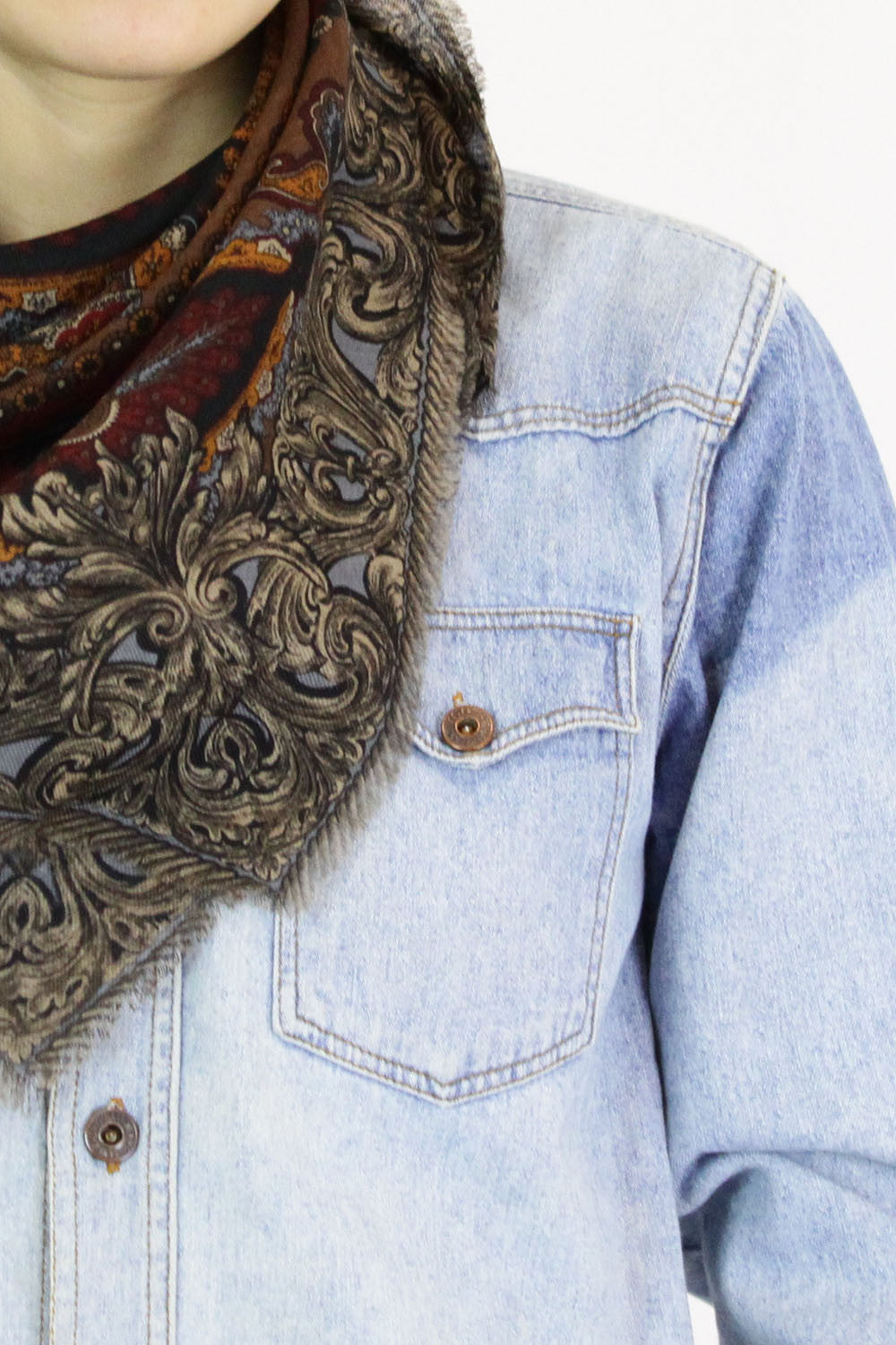 baroque paisley wool scarf | AS IS