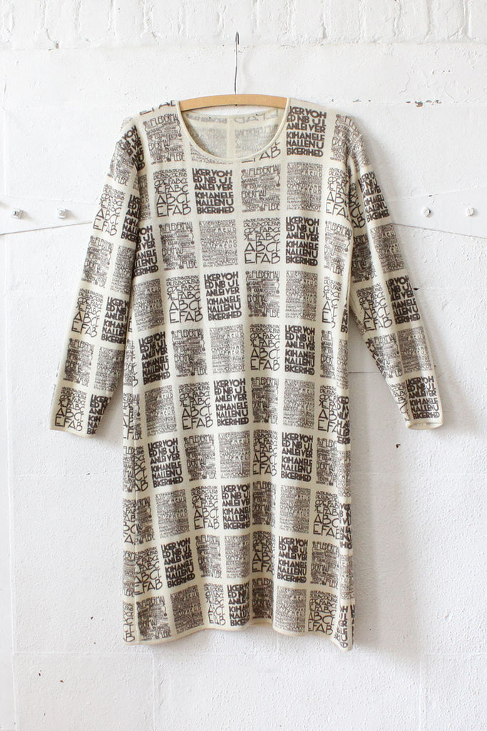 Typography Nouveau Knit Dress L