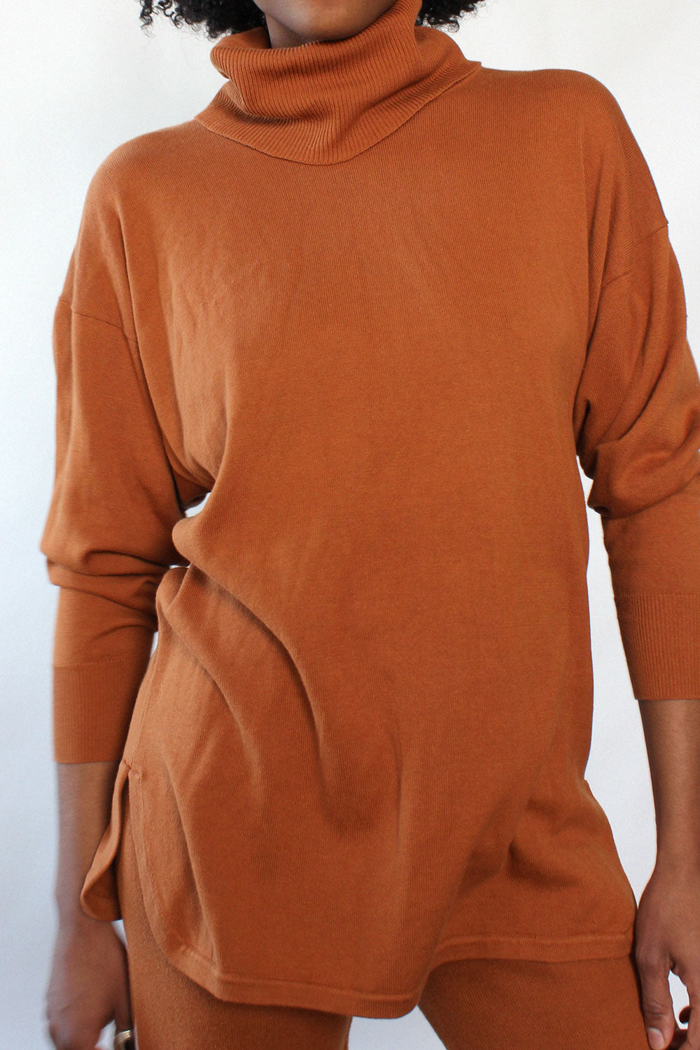 Cotton Chesnut Sweater Set M