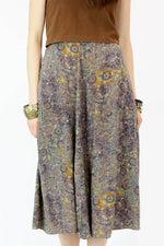 Sale / Dusty Amethyst Pattern Skirt M
