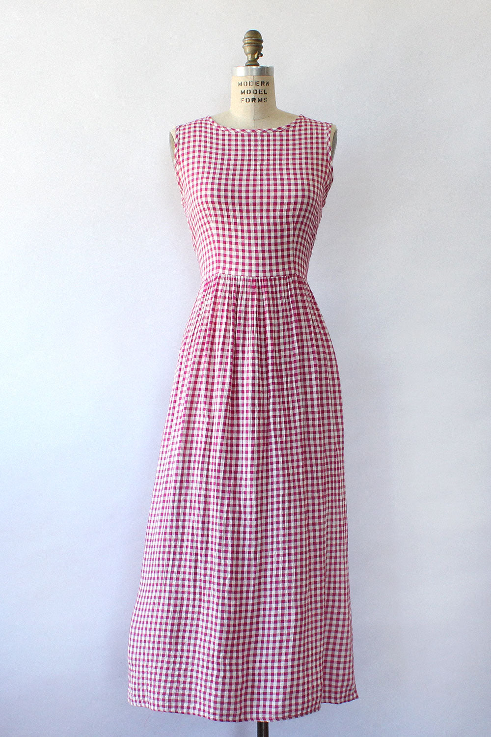 Raspberry Gingham Dress S/M