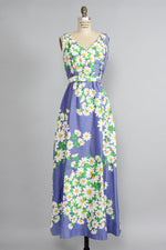 Malia Honolulu Daisy Cotton Maxi M