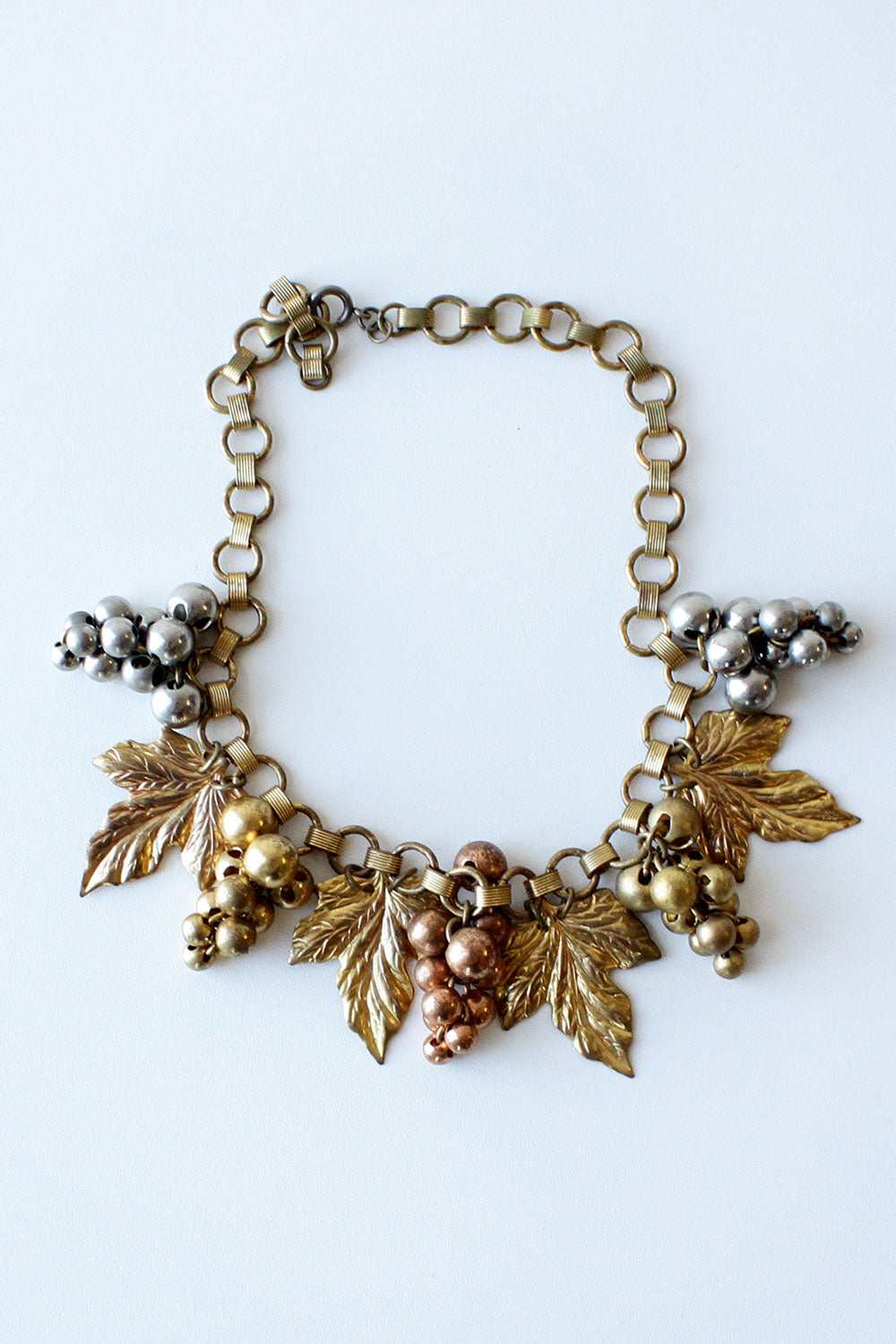 Brass Grape Cluster Necklace