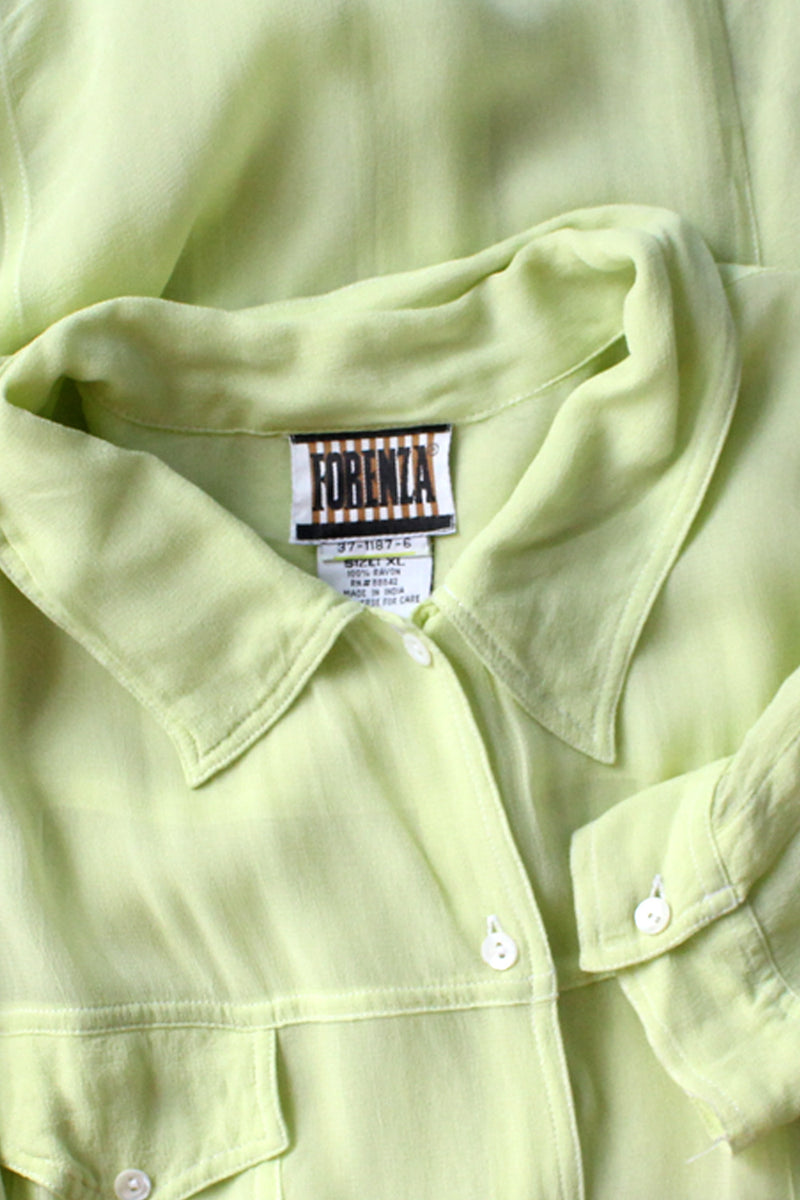 Lime Fizz Sheer Buttondown M-XL