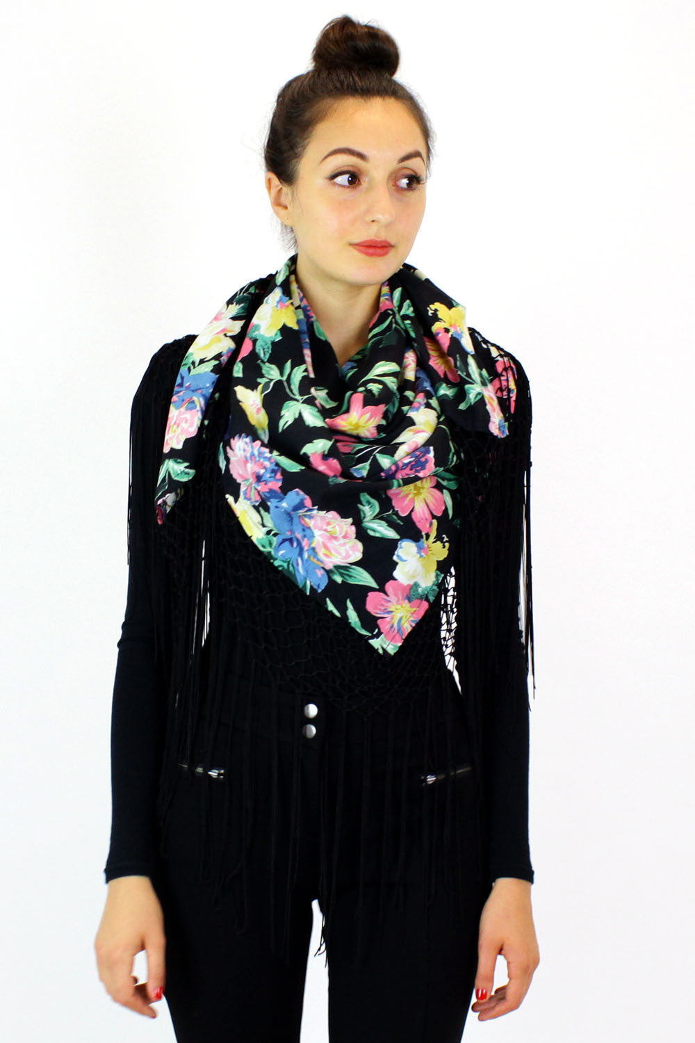 floral wrap scarf