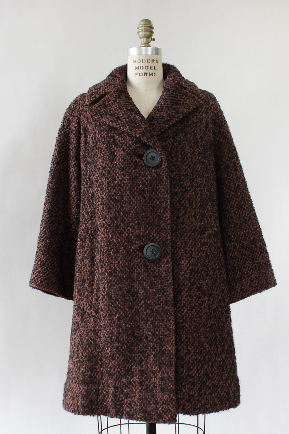 Bark Bouclé Coat S