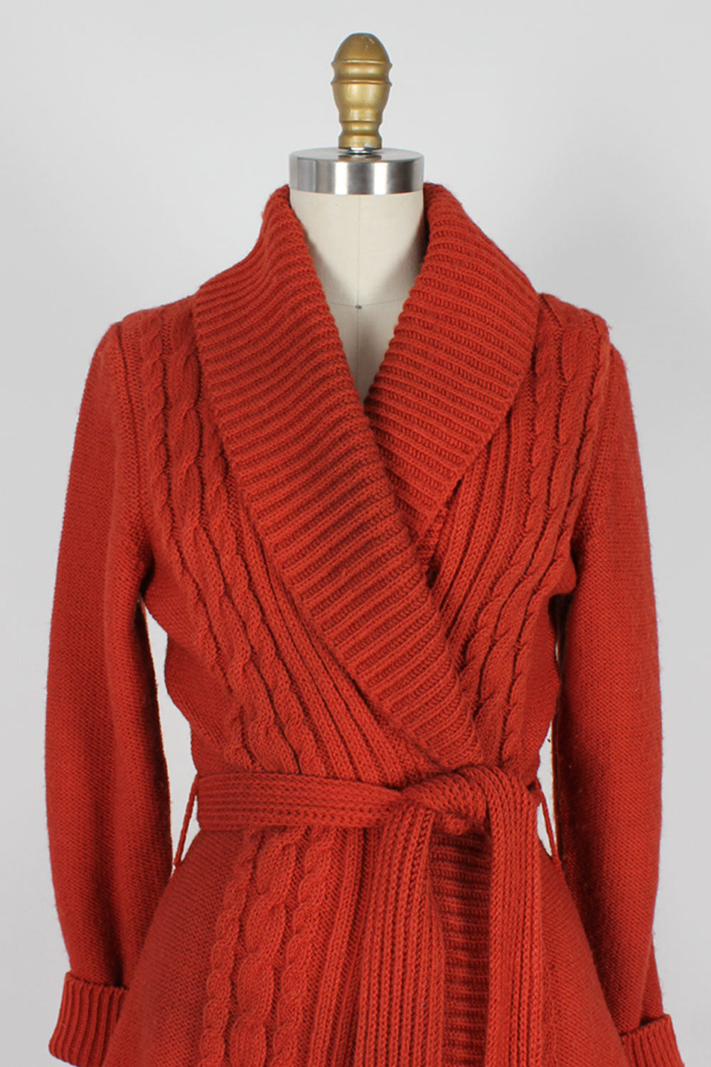 Russet Belted Italian Cardigan XS-M
