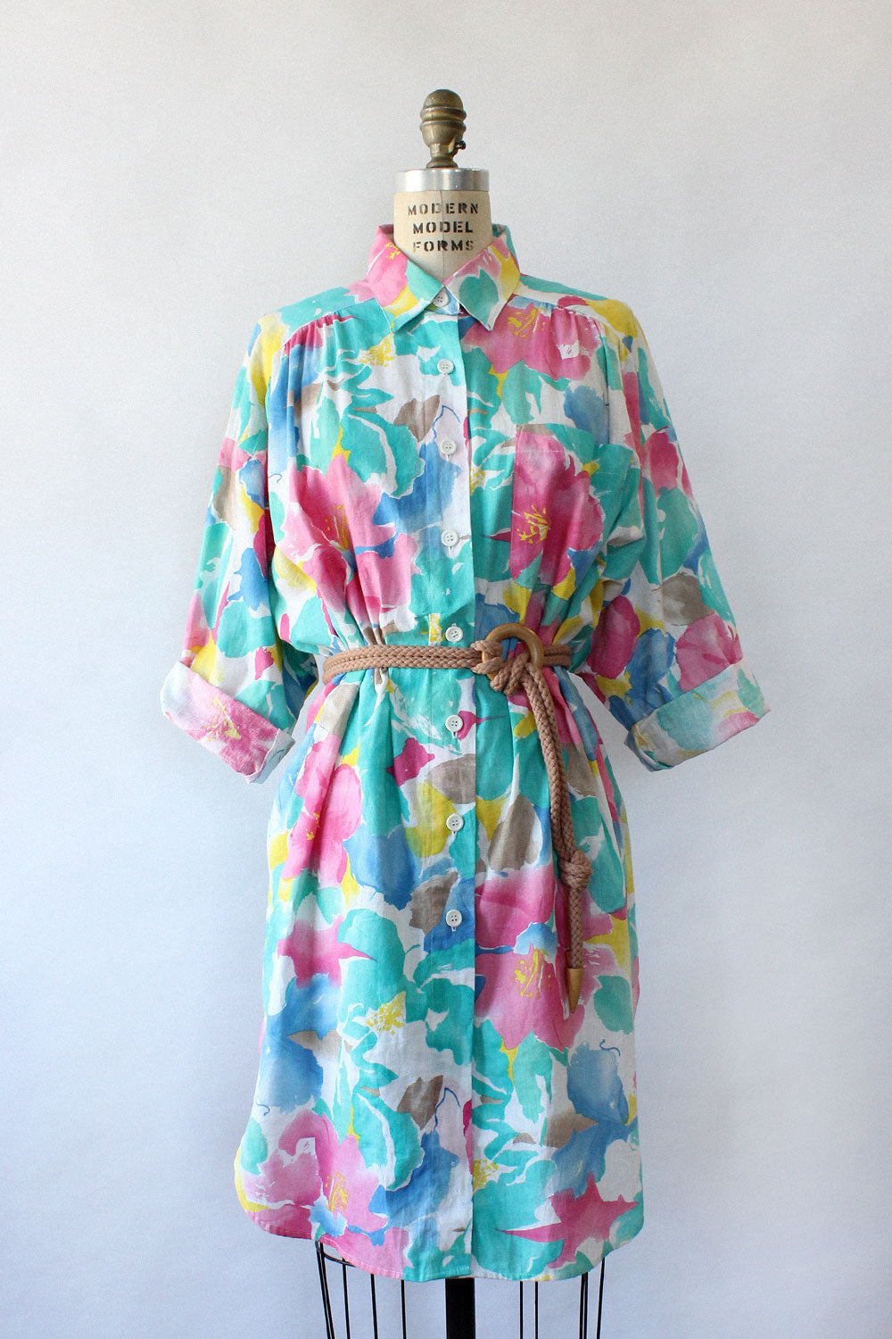 Watercolor Floral Shirtdress