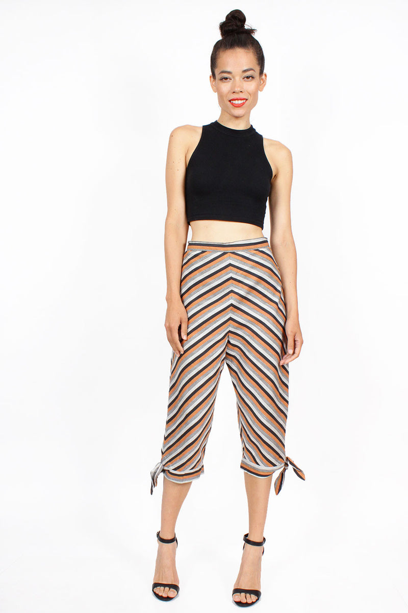 40s Chevron Capri Pants S/M