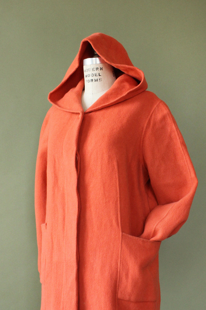 Just Peachy Hooded Coat S/M