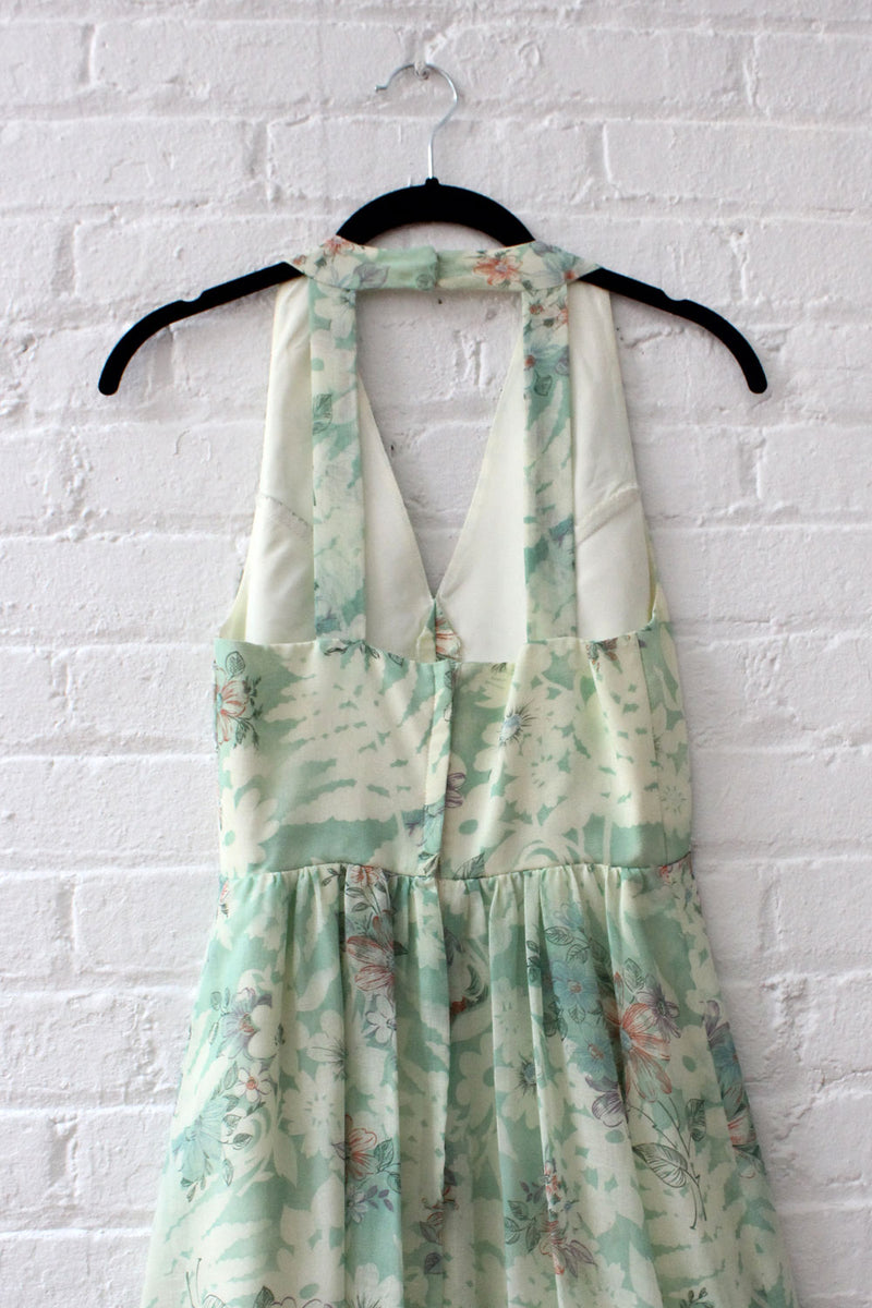 Celery Floral Ladderback Maxi XS