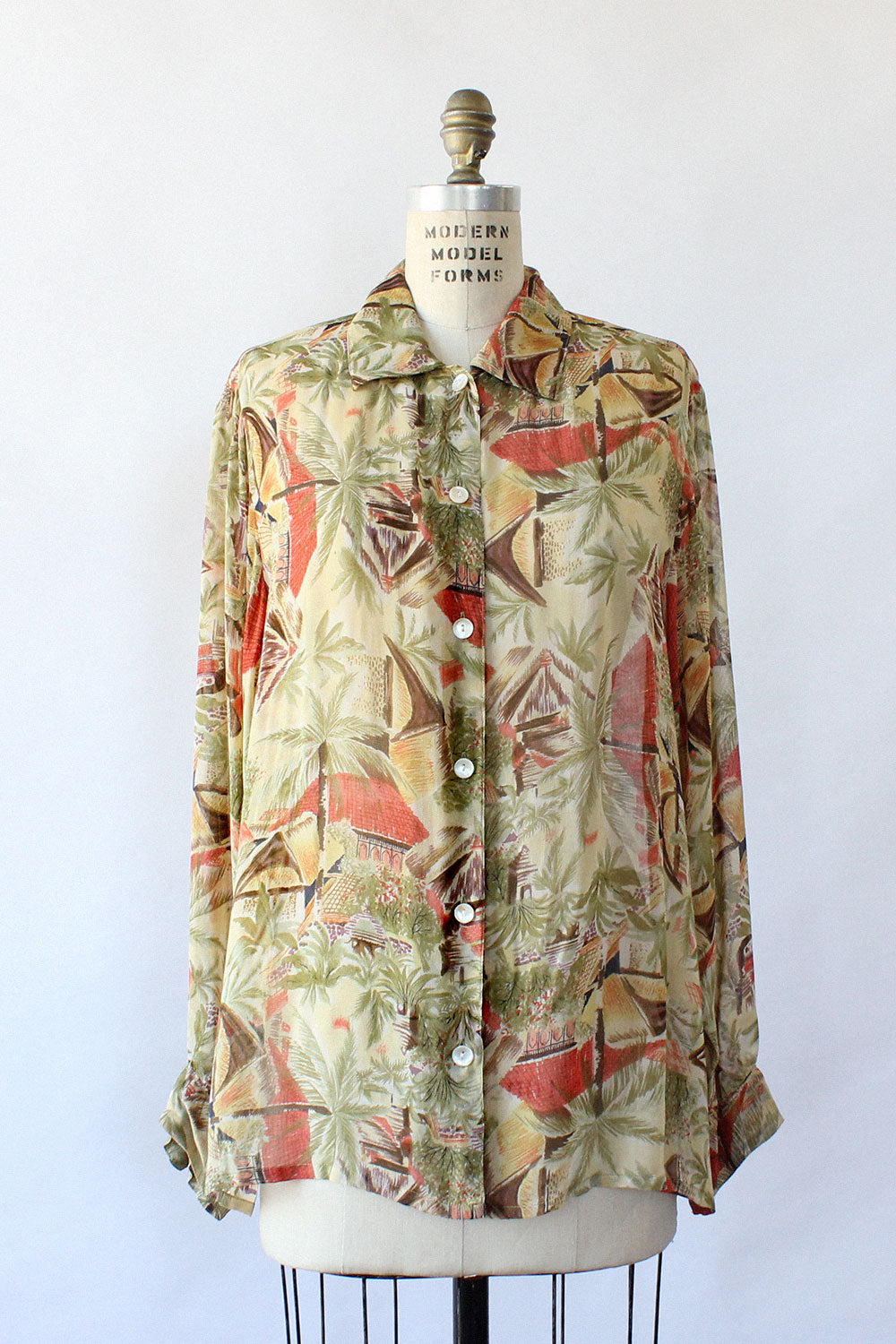 Tropical Cabana Blouse S-L