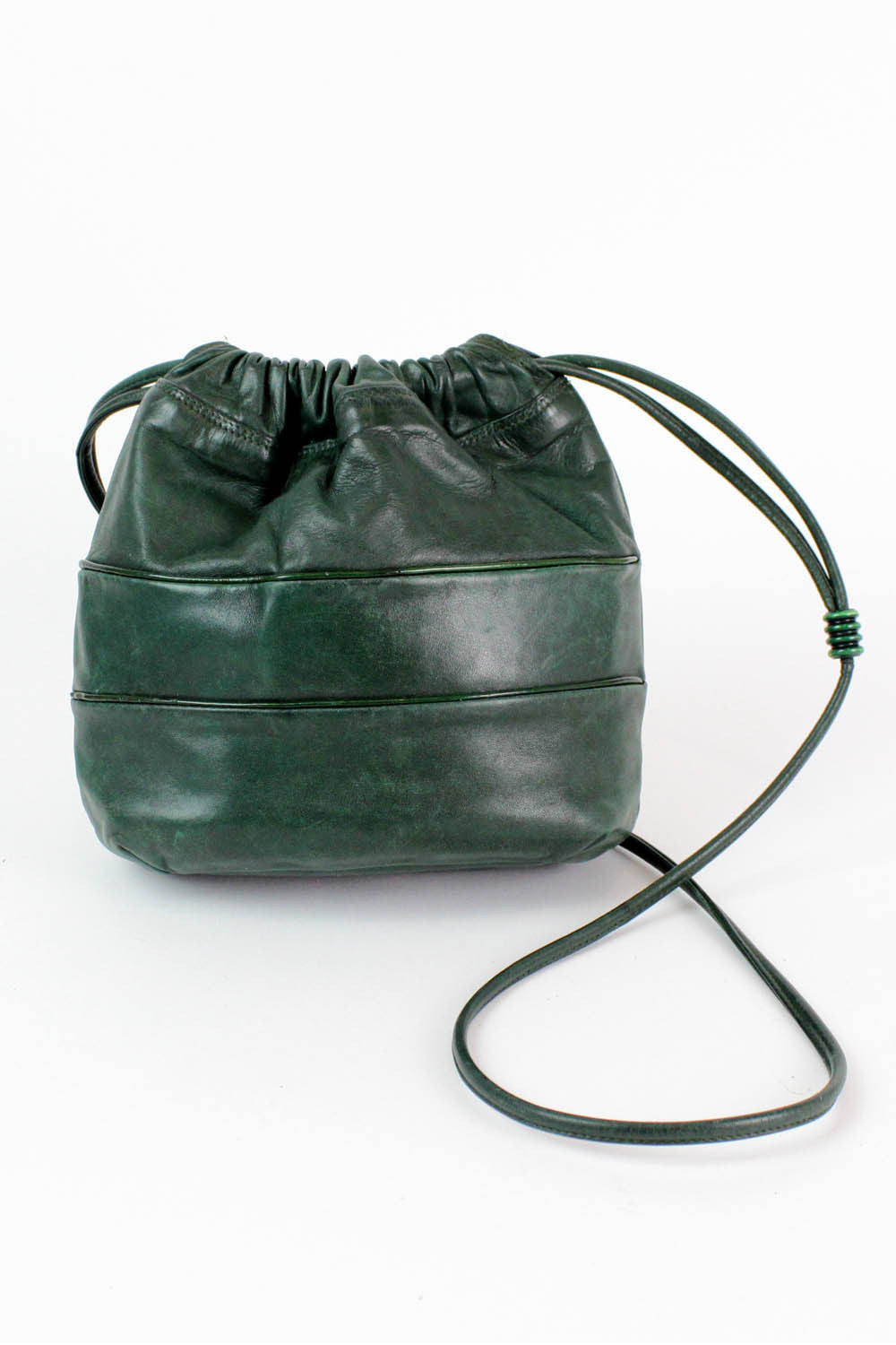forest green bucket bag