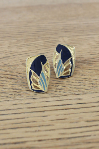 Bamboo Goldtone Hoops