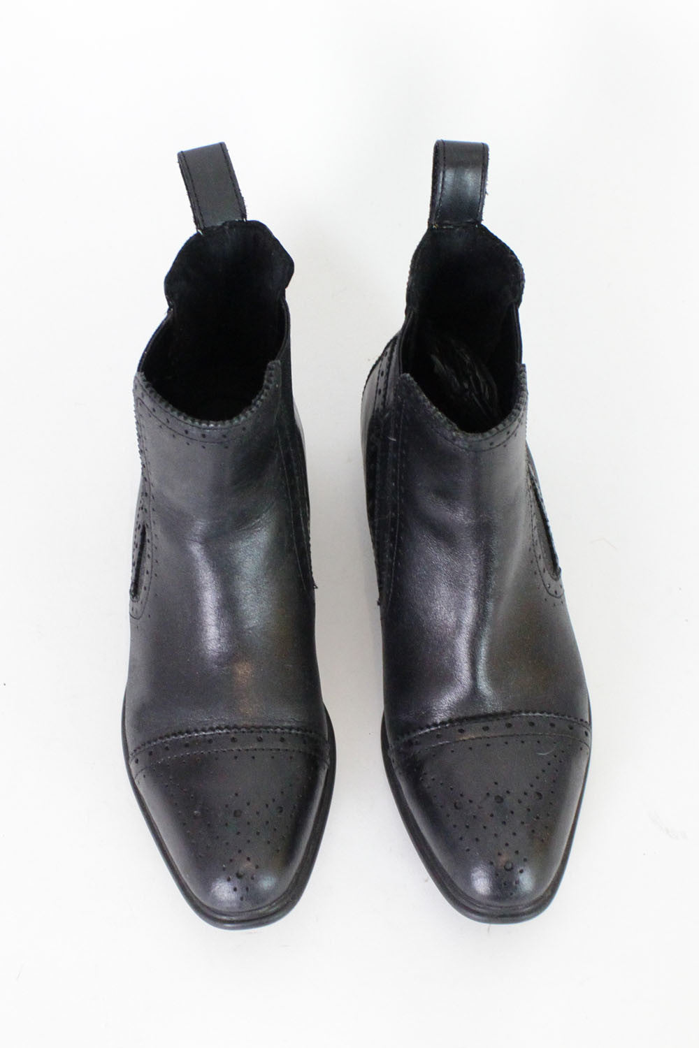 Black Leather Chelsea Boots 5