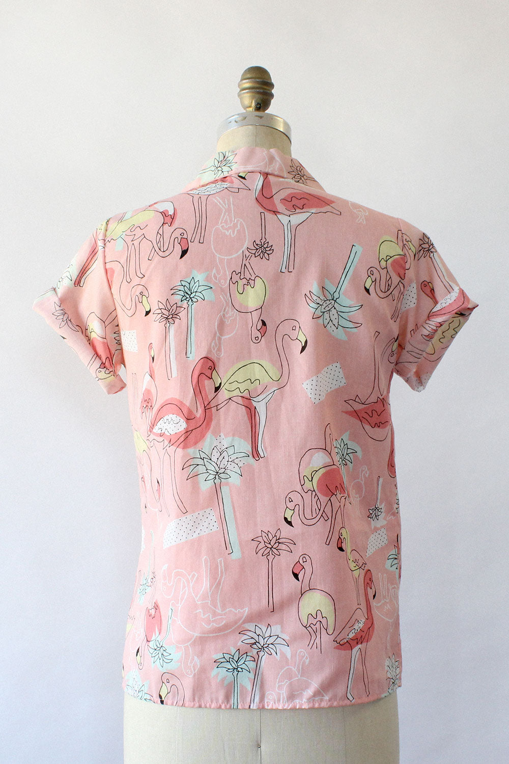 Flamingo Print Buttondown S/M