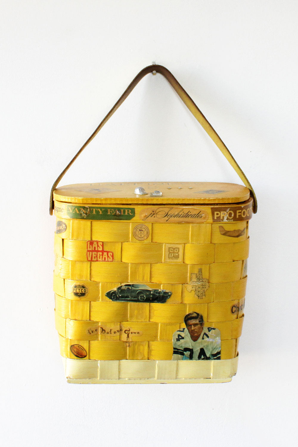 Tom Jones Collage Basket Bag